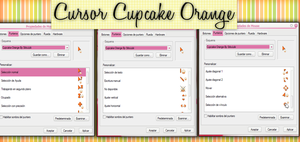 Cupcake Orange Cursor By StiloJuliii by StiloJuliii