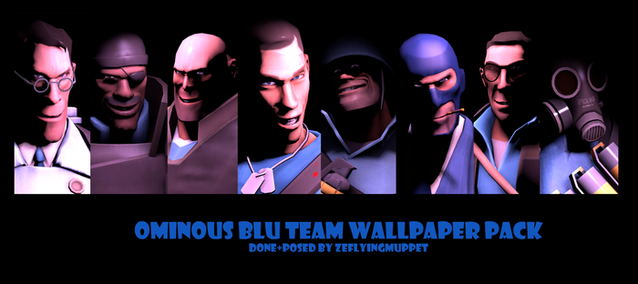 TF2 Blu Team Wallpaper Pack, Free to Download! by ZeFlyingMuppet
