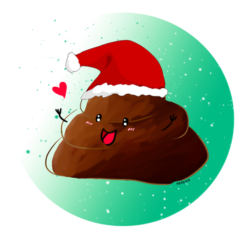 This Poop Wishes You a Merry Christmas by AKreiko