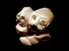 Alabaster sculpture Young and Old by sebdot