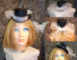 Silvery Butterfly Mini Top Hat by diello