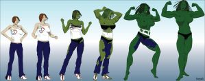 She-Hulk Transformation by hotrod5