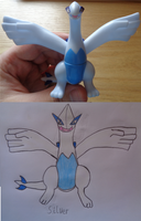 Silver Lugia by woodywoodwood