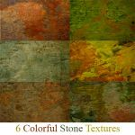 6 Colorful Stone Textures by deadcalm-stock