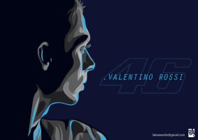 Valentino Rossi Glow in The Dark by laksanardie