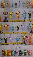 Eeveelution Dangly Set with Sylveon by ChibiSilverWings