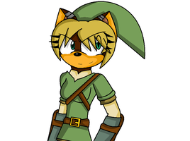 becky as link (shaded) by LethalWeapon07