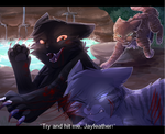 Try and hit me, Jayfeather! by CascadingSerenity