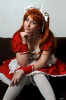 Asuka Maid by NikitaCosplay