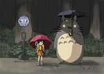 My Neighbor Totoro - Waiting for the Catbus by faithless12