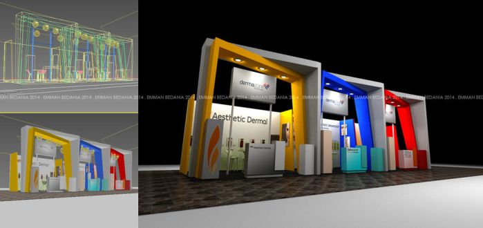 Booth for Dermazone - Worms View Angle by emman03