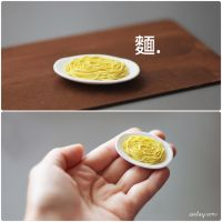 Tiny strands of noodles. by Aiclay