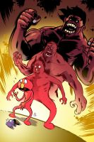 Elmo is... The Red Hulk! by nandop