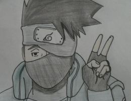 Kakashi by lyrablaze