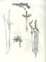 Swords concepts by HolyDemonKnight