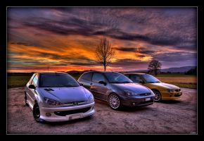 sunset cars by Tosi84