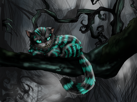 Cheshire Cat by MicroPixels