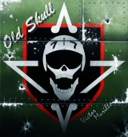 weathered oldskull logo by VyToR