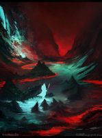Red Cave by AntonMedvedkov