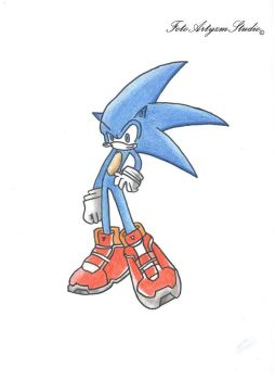 Sonic The Hedgehog by KeVasFul