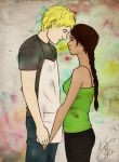 Katniss and Peeta by BKLH362