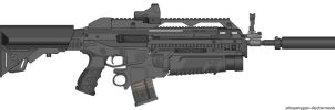 Mk25A4C with grenade launcher by CODCrysisWarfare