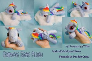 Rainbow Dash Deluxe Beanie Baby by bluepaws21