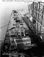 USS Hawaii CB-3 fitting out 8JAN1947 bow view by StephenBarlow