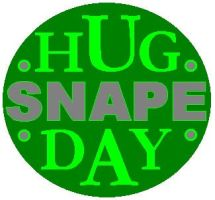 Hug Snape Day Badge by Lolua
