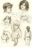 my sketches are pastede on yey by polvoice