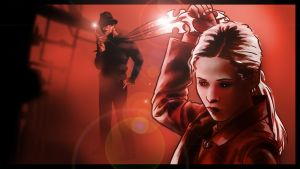 Buffy/Freddy crossover panel 1 by Art-Gem