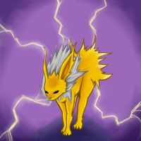 dark jolteon by badash13