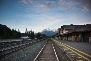 Banff Train Station by nalhcal
