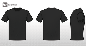 Black Tee Templates PNG by sleeprobber