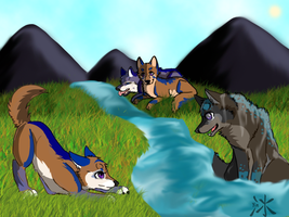 Let's Play By the River Bank! by Yintheicewolf