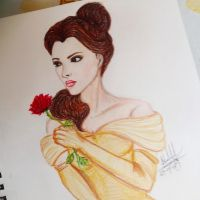 Emma Watson as Belle by grecianoktapodievil