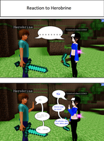 If I met Herobrine in Minecraft.. by CrystalChell