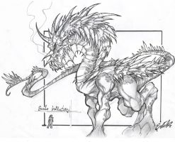 Jaalin Dragon Concept by bearcavestudios