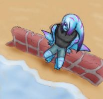 Zora Kaisex at the beach by Almiux19