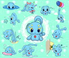 Random doodles of Manaphy by aquabluu