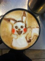 Pikachu Latte by Coffee-Katie