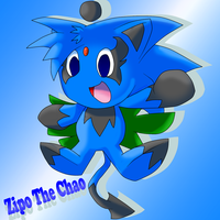.:Fanart:. Zipo The Chao by FireUnleaser