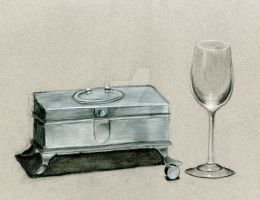 Still Life-Charcoal by Cra-ZShaker
