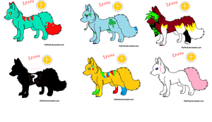 Six One point adoptables by GHD-Adoptables