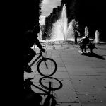 Bicycle and fountain by dajono