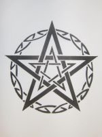 Tribal Pentagram by MagpieVon