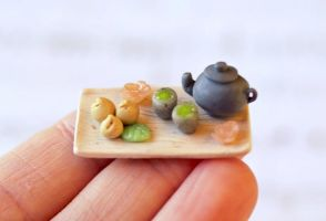 Green Tea and Dumplings Tray by ChloeeeeLynnee97
