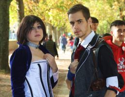 Booker and Elizabeth Cosplays (close up) by Maspez