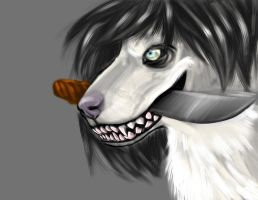 Jeff The Killer Wolf form by BlazeTheFierce