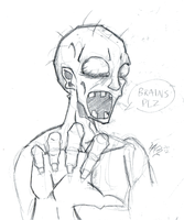 Daily Sketch 16: Braaaaains by ReluctantZombie